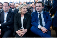 Paris. Marine Le Pen convention.