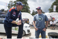 Robby Naish visits Red Bull team during the rest day of Rally Dakar 2017 in La Paz, Bolivia.