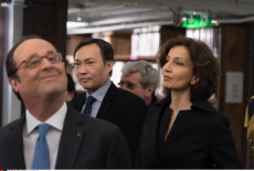 Paris: Hollande inaugurating the renovated spaces of the Richelieu-Louvois Library