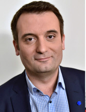 Paris: Florian Philippot, vice president du Front National.