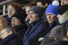 People: France: Football L1- Celebs at French L1 soccer Match, Paris Saint-Germain vs AS Monaco