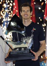 Andy Murray  Dubaï trophee