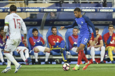 Football international friendly match between France and Spain
