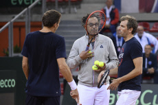 Training session Davis Cup France and Great Britain