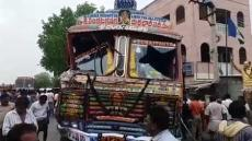 Lorry Crashes Into Indian Market