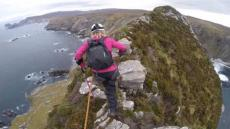 Cancer Survivor Climbs Cliff