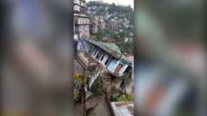 House Collapsed Due To Landslide