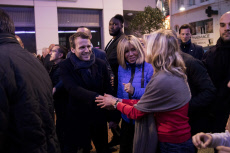 Emmanuel Macron and wife Brigitte in Le Touquet