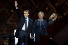 Paris Newly elected president Emmanuel Macron celebration