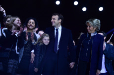 PARIS : Emmanuel Macron celebrates his presidential election victory