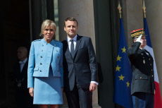 PARIS Presidential inauguration of Emmanuel Macron-Hollande leaves