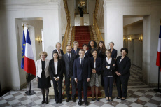 French first cabinet meeting