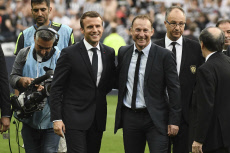 Celebs at French Cup final football match between Paris Saint-Germain (PSG) and Angers (SCO).