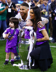 Real Madrid players with family