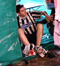 Hundreds of Juventus fan injured in stampede in Turin