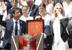 French Open tennis / men's singles victory cup
