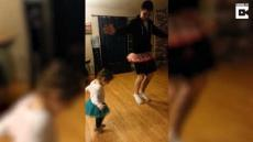 Dad Teaches Daughter Ballet