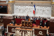 Paris. Opening session of the French National Assembly, Francois de Rugy