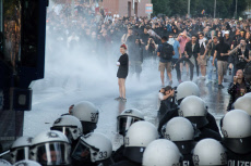 G20 protest: Welcome to Hell rally, Hamburg, Germany - 06 Jul 2017