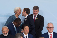 Hamburg: World leaders pose for a family photo during the G20 summit