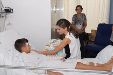 Barcelona Queen Letizia and King Felipe visiting victims of the Barcelona attack at the Hospital del Mar in Barcelona.