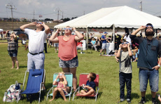 People view solar eclipse in North Carolina