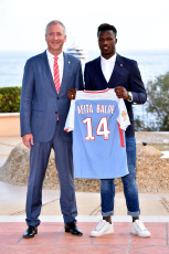 AS Monaco football club presents his newly recruited players