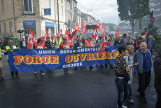Demonstration against the labour law reform in Bordeaux