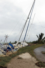 Guadeloupe Hurricane Maria damages at St Anne and St Francois