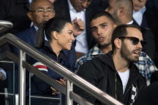 Paris: UEFA Champions League group B match between Paris Saint-Germain (PSG) and Bayern Munich, Celebs