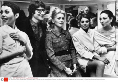 Yves Saint Laurent Fashion Designer (died 1st June 2008 Aged 71) Pictured Here With Actress Catherine Deneuve.