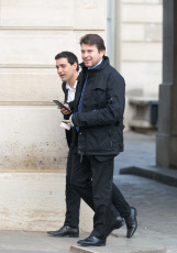 Paris: Stephane Sejourne and Sylvain Fort at Elysee Palace.