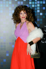 """Cindy Crawford Attending The """"Casamigos"""" Halloween Party In Disco Fashion."""