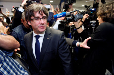 Former Catalonian regional President Carles Puigdemont's presser in Brussels