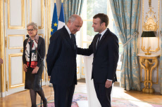 Paris: Macron attends a oath-taking ceremony  for Dominique Lottin