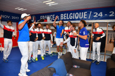 Tennis Davis Cup final France v Belgium Celebration