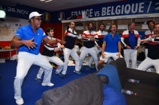 Tennis: Davis Cup final France v Belgium Celebration
