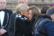 Johnny Hallyday's national funeral ceremony in Paris.
