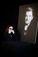 Johnny Hallyday's national funeral ceremony in Paris at  at the Eglise de la Madeleine