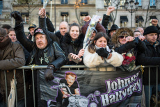 Hommage Johnny : les fans