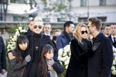 Fra Johnny Hallyday's national funeral ceremony in Paris at the Eglise de la Madeleine