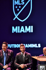 David Beckham announces the official launch of the Miami MLS team, Adrienne Arsht Center, Miami, USA - 29 Jan 2018