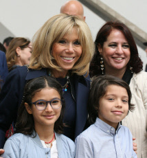 Tunis First Lady of France Brigitte Macron visits the Bardo Museum