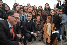 French President Emmanuel Macron visit in Tunisia