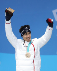 (SP)OLY-SOUTH KOREA-PYEONGCHANG-ALPINE SKIING-MEN'S ALPINE COMBINED-MEDAL CEREMONY