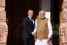 Emmanuel Macron visits India-Day 2 Conference of the International Solar Alliance