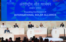New Delhi: Founding conference of the International Solar Alliance.