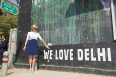 Brigitte Macron visited Block 15 of the Lodi Colony neighbourhood -  New Delhi -Day 2
