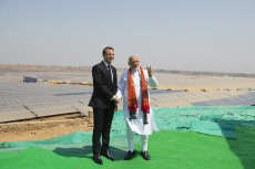 President Macron At A Solar Power Plant Inauguration - Mirzapur-Day 3