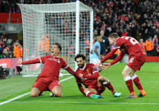 Liverpool v Manchester City UEFA Champions League quarter final football match, Anfield, Liverpool, UK - 04 Apr 2018
